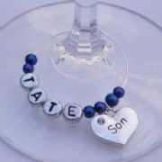 Son Personalised Wine Glass Charm